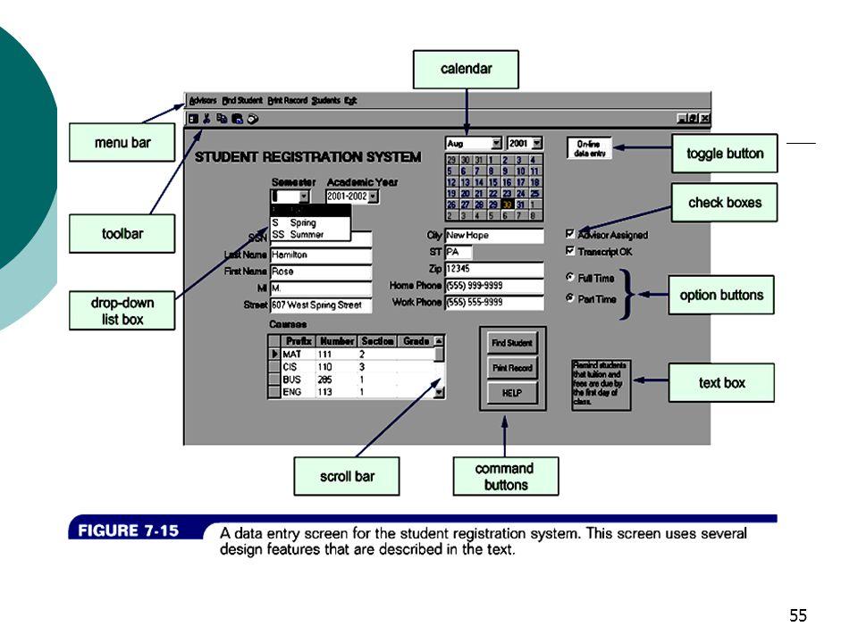 56 Common GUI Components Can edit Text box Radio button Check box List box Spin box Drop down list Button