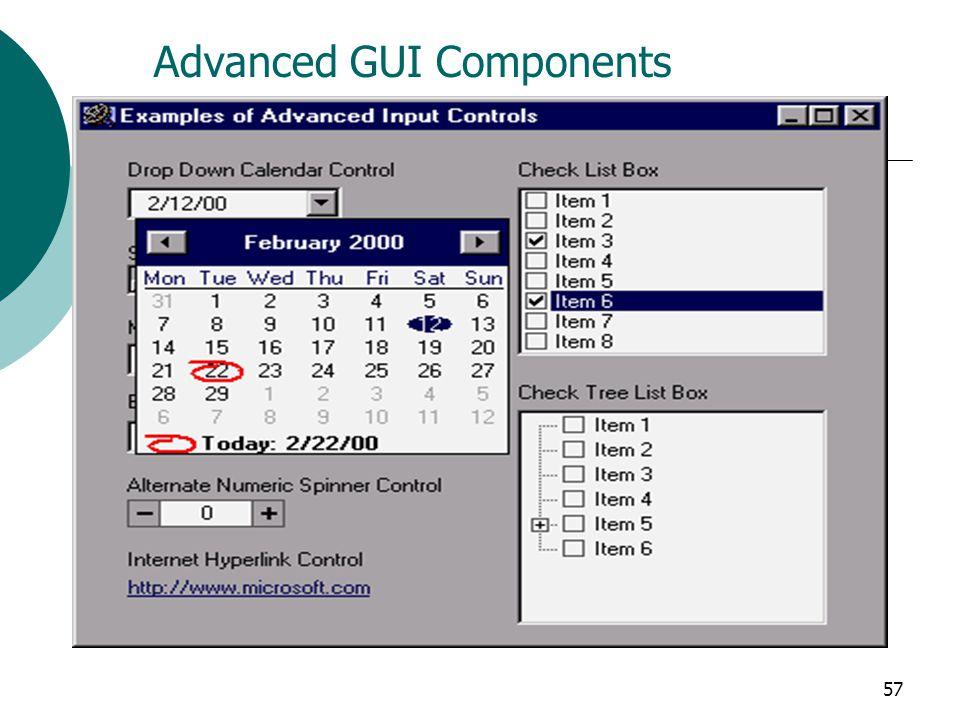 57 Advanced GUI Components