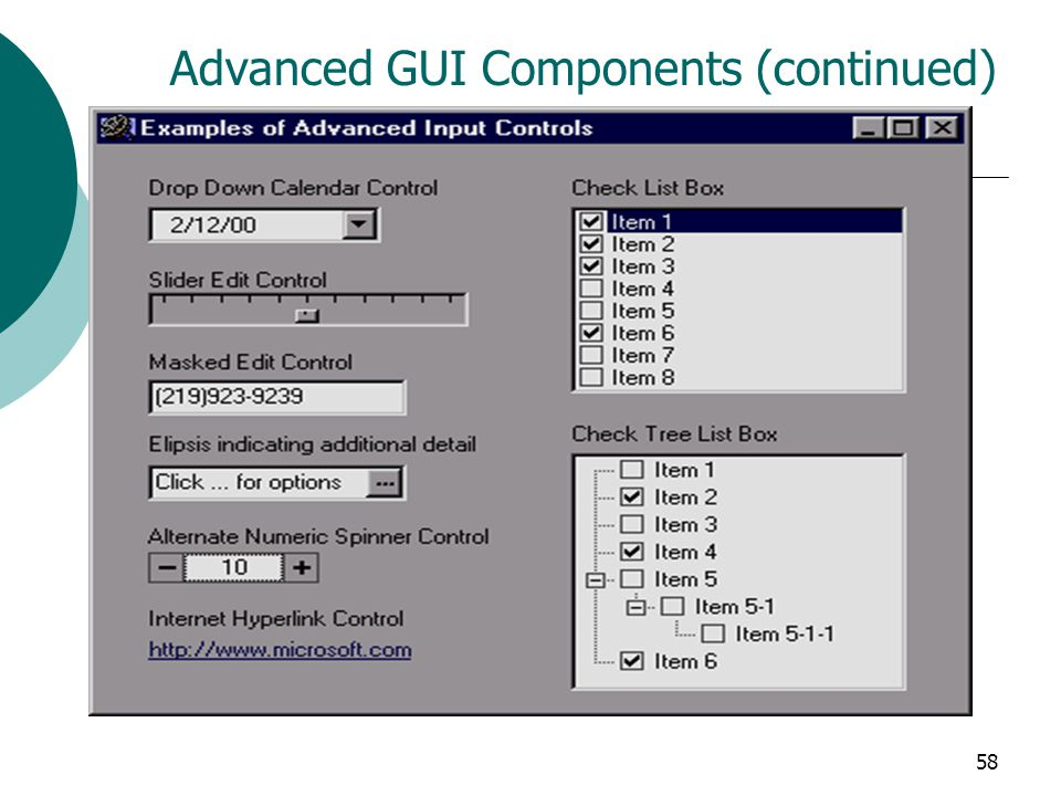 58 Advanced GUI Components (continued)