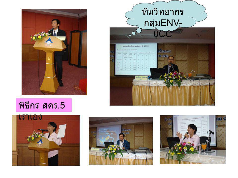 พิธีกร สคร.5 เราเอง ทีมวิทยากร กลุ่ม ENV- 0CC