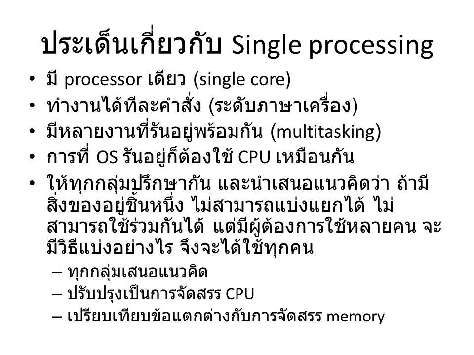 Process state ( การเรียกชื่อ state ต่างๆอาจต่างกันไปตามผู้แต่งหนังสือ น.