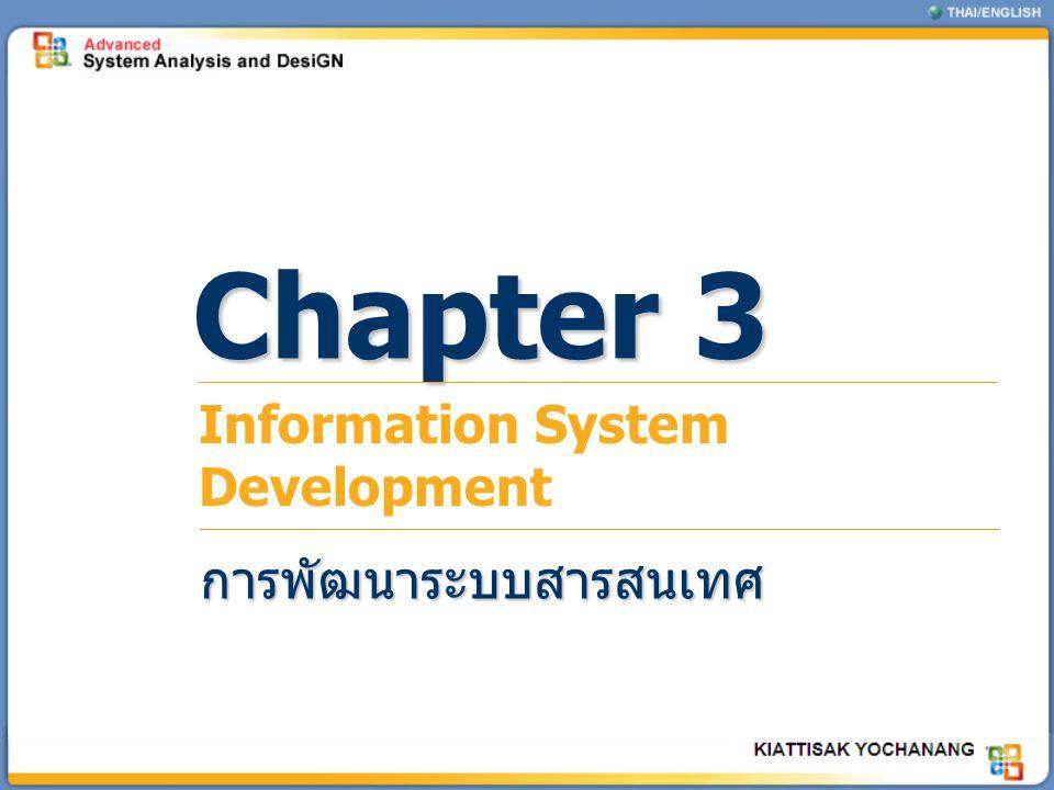 Chapter 3 Information System Development การพัฒนาระบบสารสนเทศ
