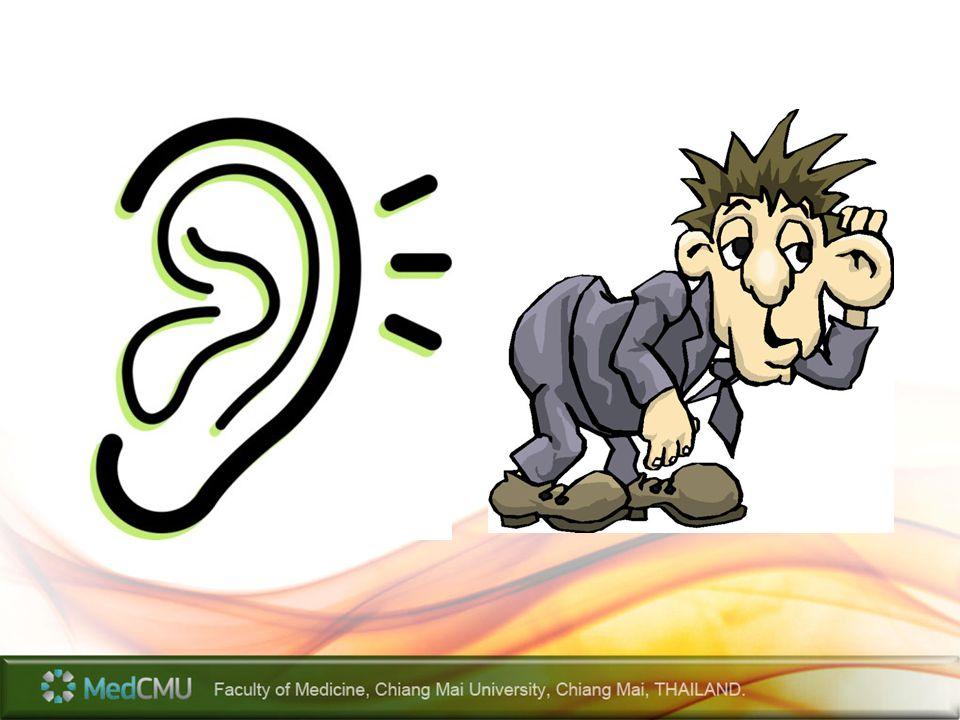 Acute otitis media Sign/symptom – Ear pain – Fever – Bulging yellow or red tympanic membrane