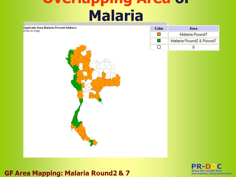 Overlapping Area of Malaria GF Area Mapping: Malaria Round2 & 7