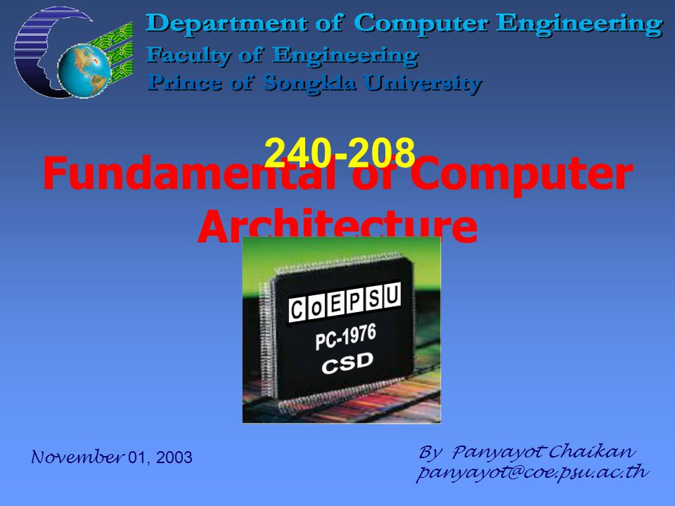 Chapter 5 – Input/Output and system bus 62 240-208 Fundamental of Computer Architecture