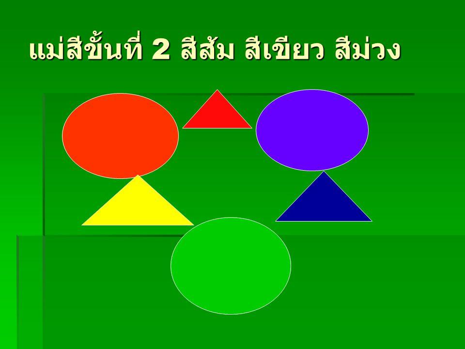 แม่สีขั้นที่ 2 สีส้ม สีเขียว สีม่วง