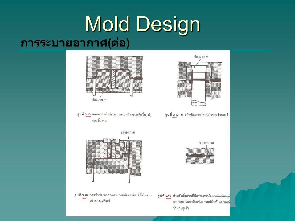 Mold Design การระบายอากาศ ( ต่อ )