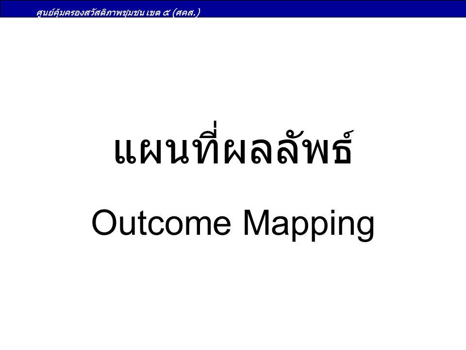 ศูนย์คุ้มครองสวัสดิภาพชุมชน เขต ๕ (ศคส.) แผนที่ผลลัพธ์ Outcome Mapping