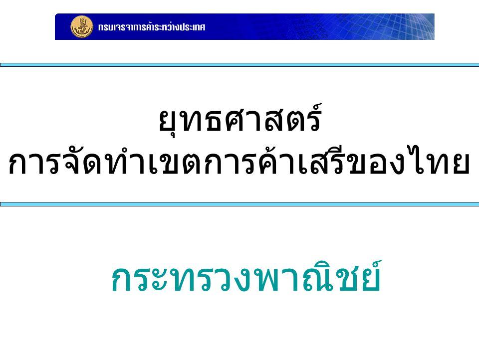 ยุทธศาสตร์ การจัดทำเขตการค้าเสรีของไทย กระทรวงพาณิชย์