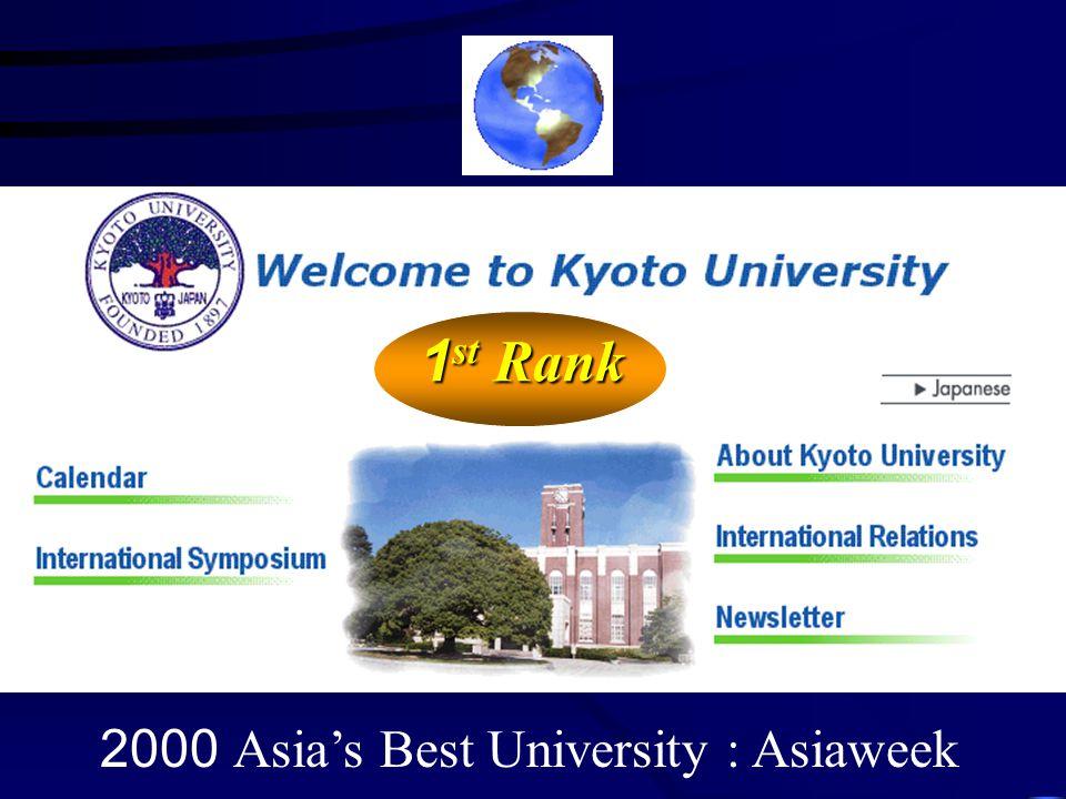 2000 Asia's Best University : Asiaweek 1 st Rank