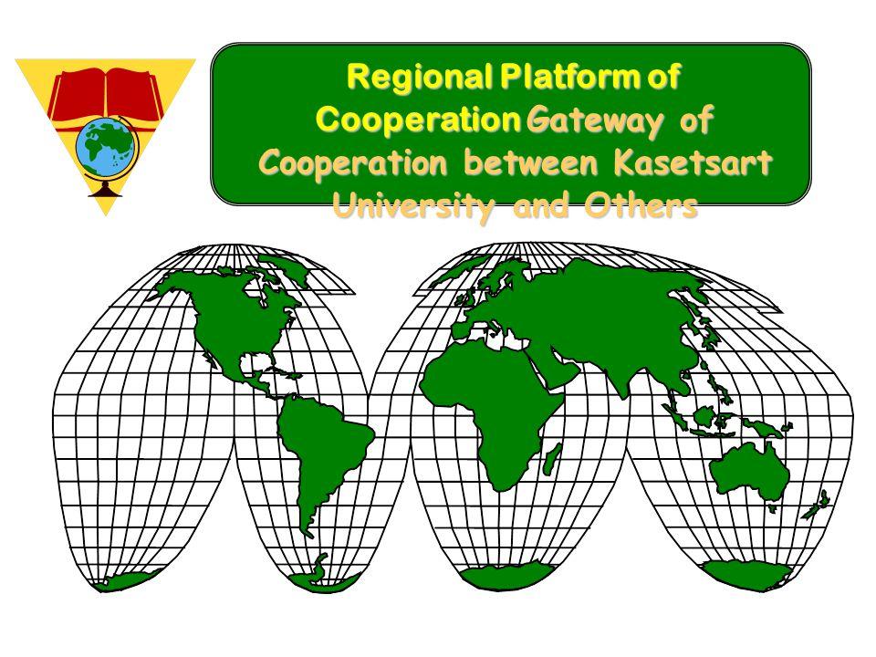 Regional Platform of Cooperation Gateway of Cooperation between Kasetsart University and Others