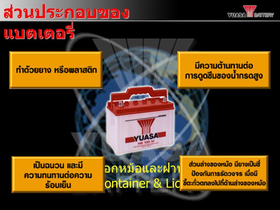 ส่วนประกอบของ แบตเตอรี่ เปลือกหม้อและฝาหม้อ (Container & Lid)