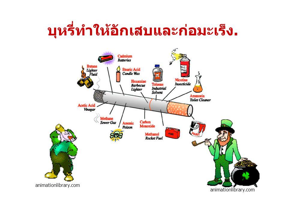 animationlibrary.com บุหรี่ทำให้อักเสบและก่อมะเร็ง.