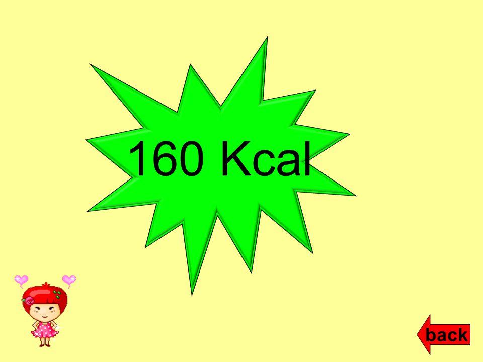 160 Kcal back