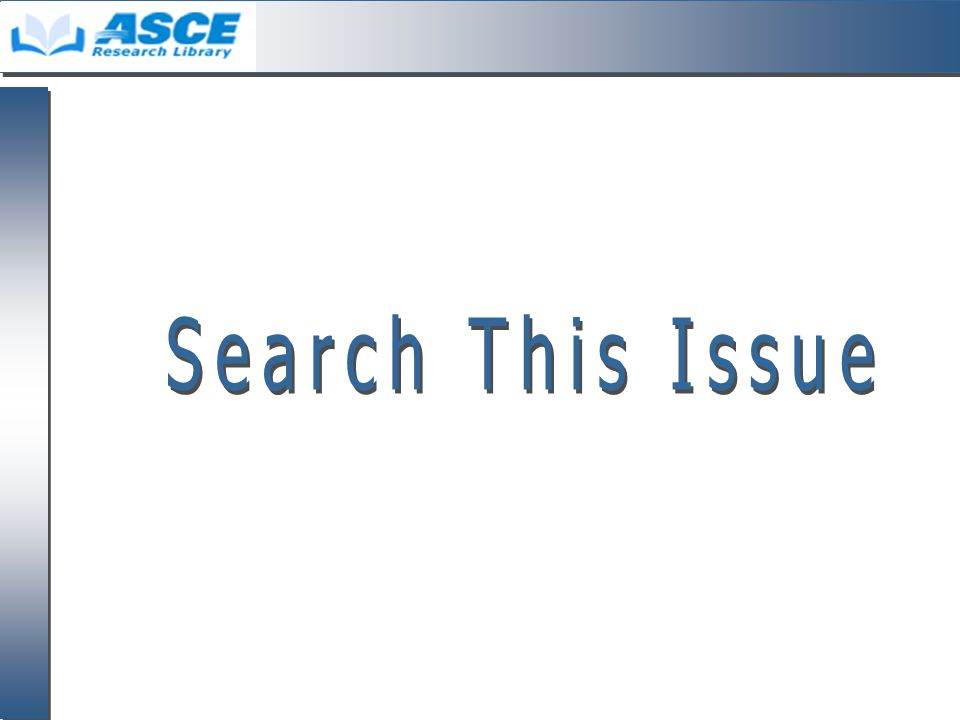 Search This Issue จากหน้า Table of Contents คลิก ที่ Search This Issue