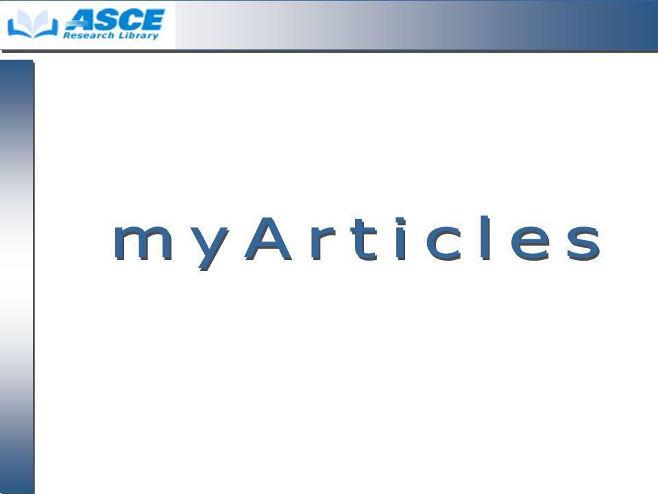 myArticleas 1. คลิกเลือก รายการที่ ต้องการ 2. คลิก myArticles จากนั้นคลิกปุ่ม GO 1 2
