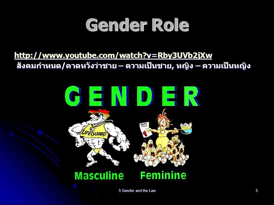 5 Gender and the Law6 คนเราควรมีสิทธิเสรีภาพใน การเลือกเป็นในสิ่งที่ตนชอบ