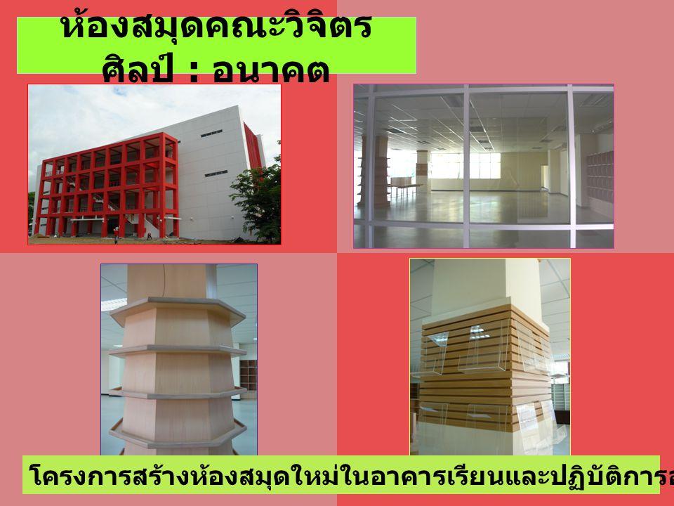 โครงการสร้างห้องสมุดใหม่ในอาคารเรียนและปฏิบัติการออกแบบคณะวิจิตรศิลป์ ห้องสมุดคณะวิจิตร ศิลป์ : อนาคต