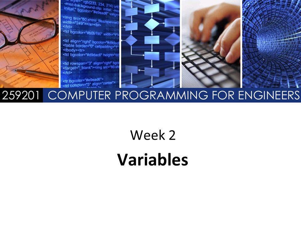 Week 2 Variables