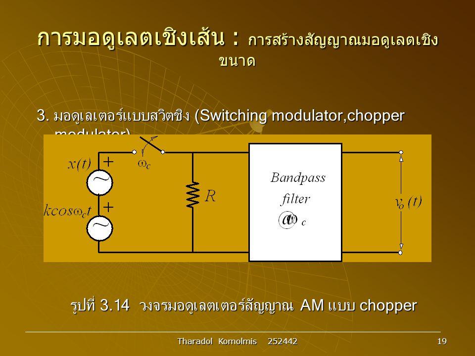 Tharadol Komolmis 252442 19 การมอดูเลตเชิงเส้น : การสร้างสัญญาณมอดูเลตเชิง ขนาด 3.