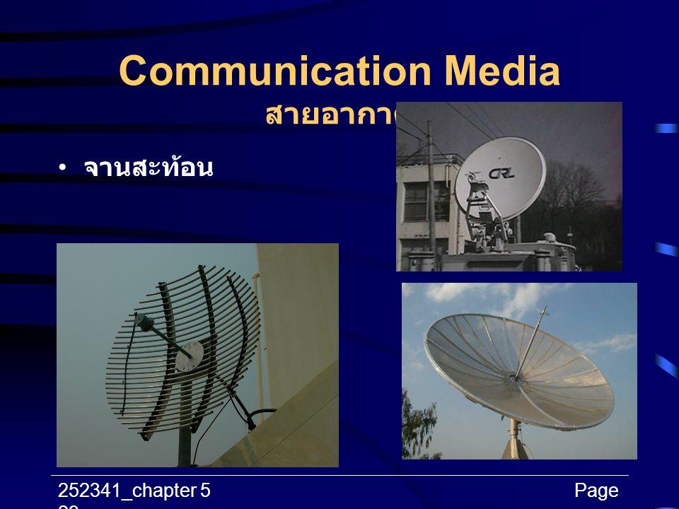 252341_chapter 5Page 29 Communication Media สายอากาศ จานสะท้อน