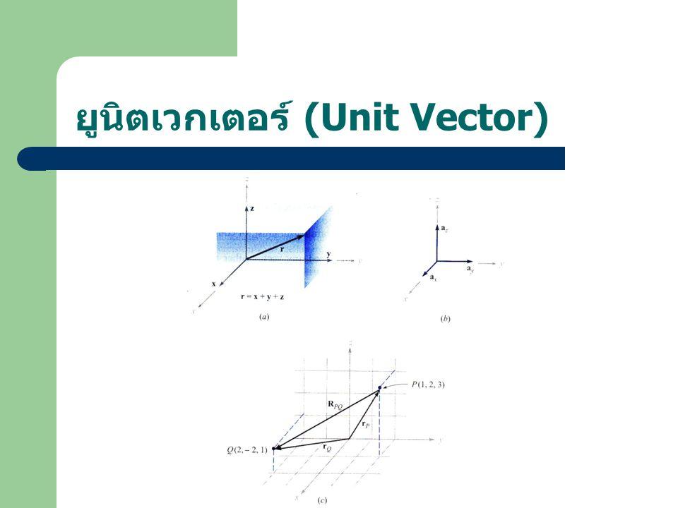 ยูนิตเวกเตอร์ (Unit Vector)