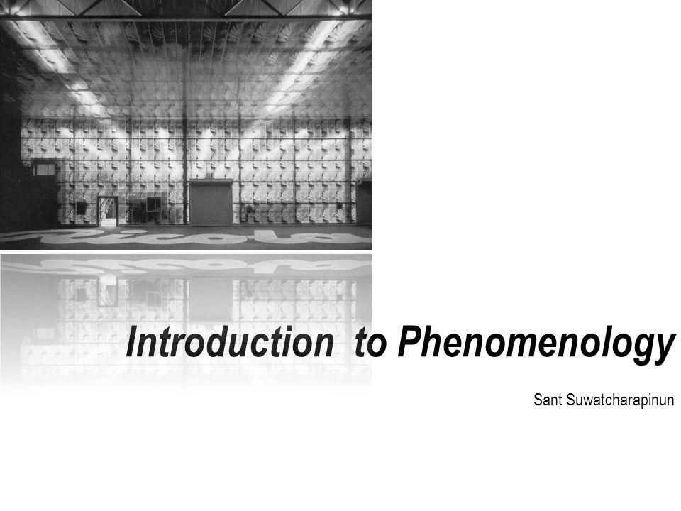 Introduction to Phenomenology Sant Suwatcharapinun