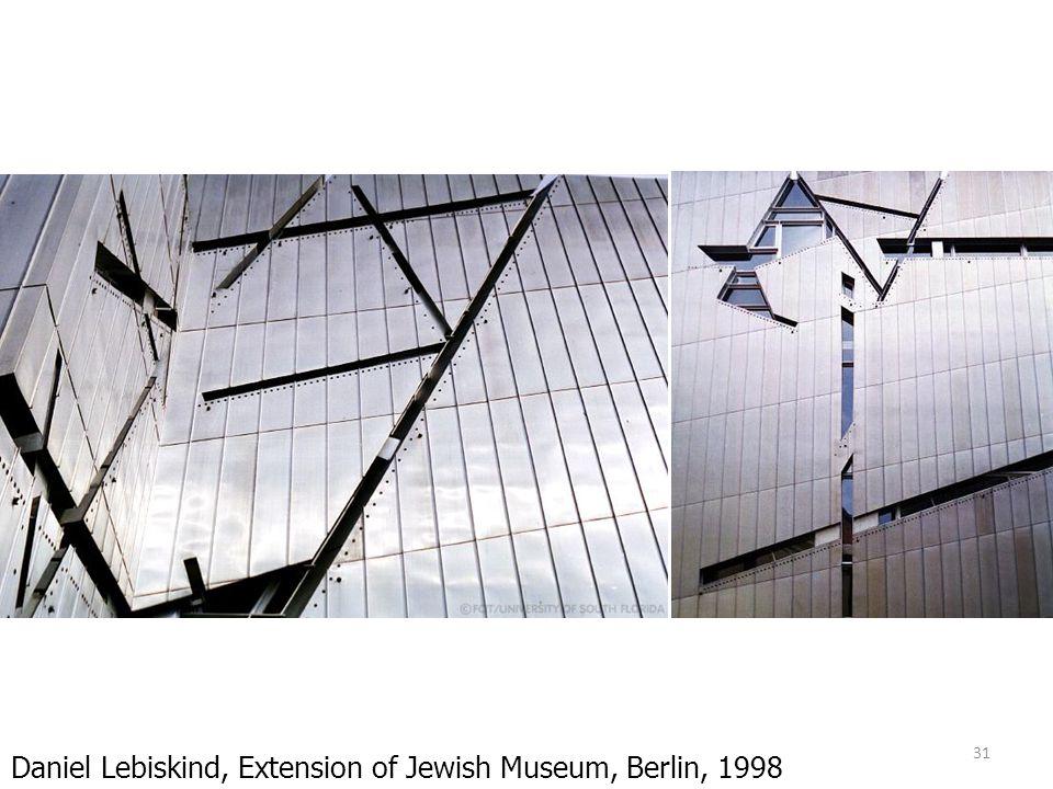 31 Daniel Lebiskind, Extension of Jewish Museum, Berlin, 1998