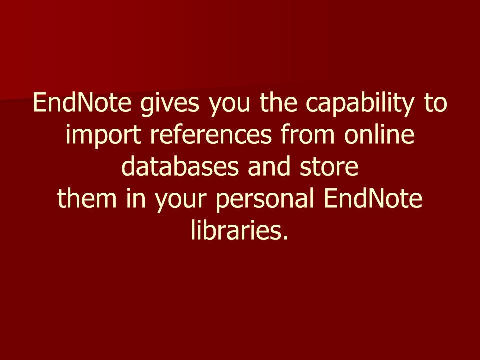 รายการอ้างอิงที่เลือกไว้จะได้รับการอ้างและเขียนเอกสารอ้างอิง ตามตำแหน่งและรูปแบบที่เลือกไว้