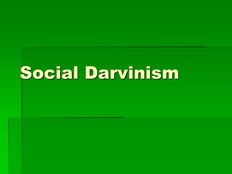 Social Darvinism
