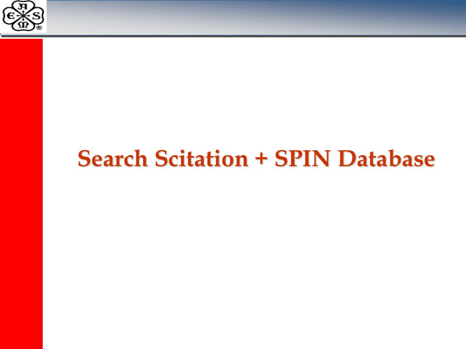Search Scitation + SPIN Database