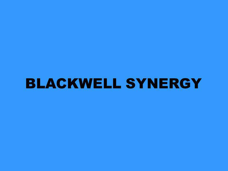 BLACKWELL SYNERGY