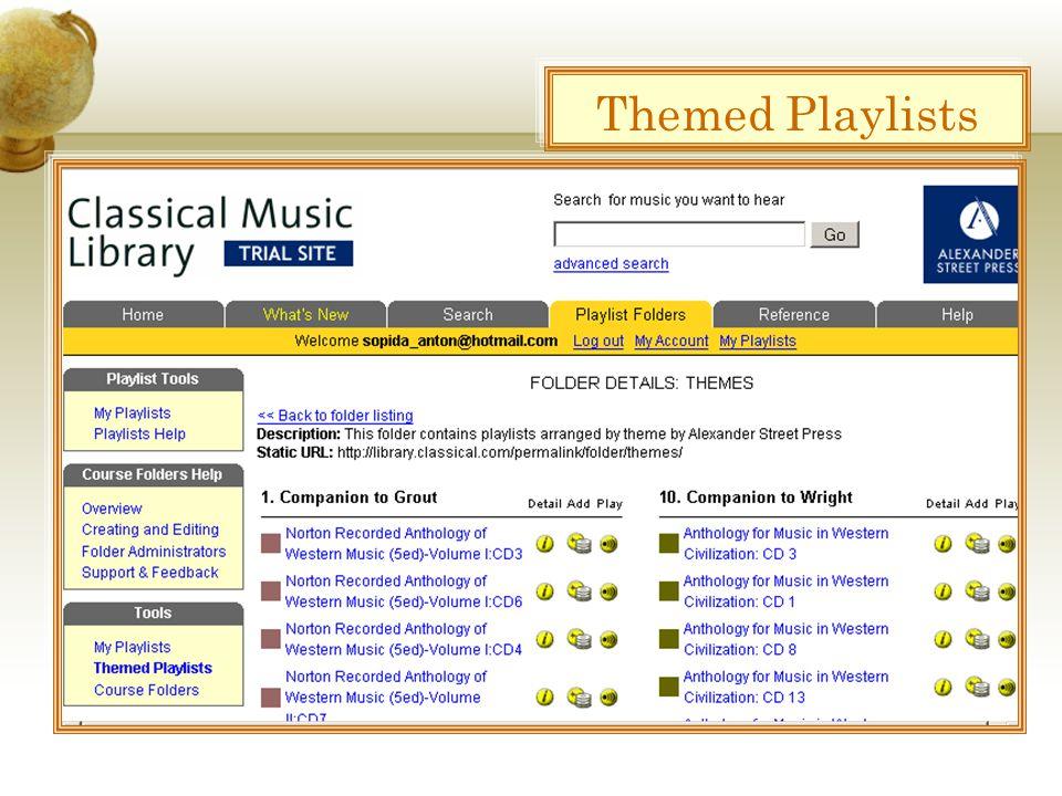 Themed Playlists