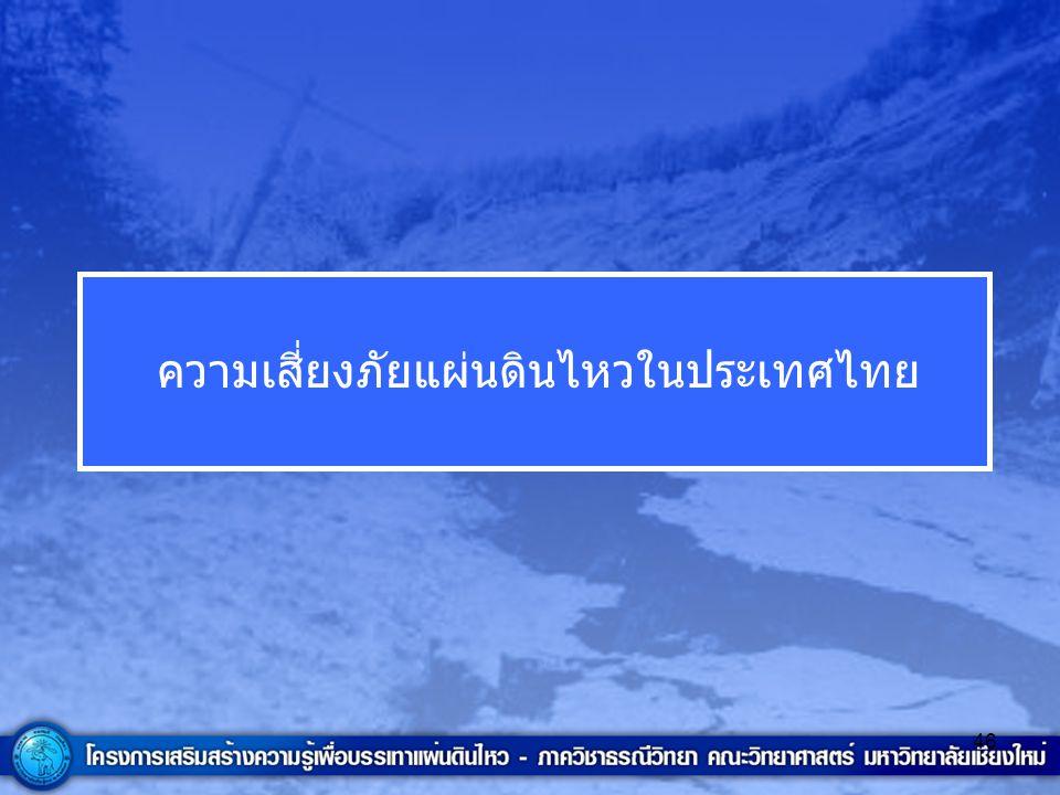 46 ความเสี่ยงภัยแผ่นดินไหวในประเทศไทย