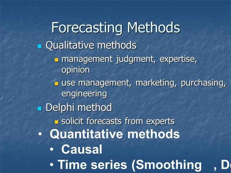 Time Frame Short-range to medium-range Short-range to medium-range daily, weekly monthly forecasts of sales data การ ควบคุมระยะสั้น daily, weekly mont