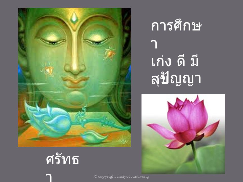 @ copyright chaiyot suntivong การจัดการความรู้หรือความหลง Who are You ? What you want to be?