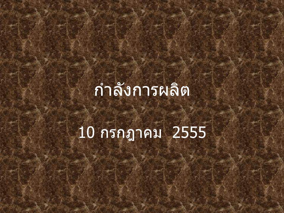 กำลังการผลิต 10 กรกฎาคม 2555