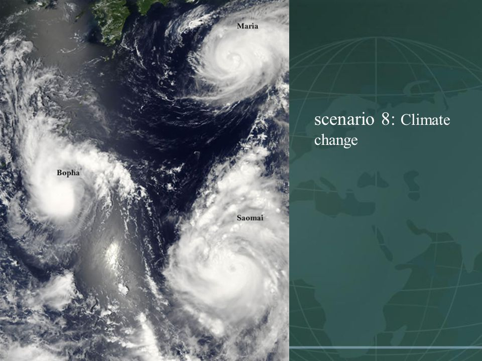scenario 8: Climate change