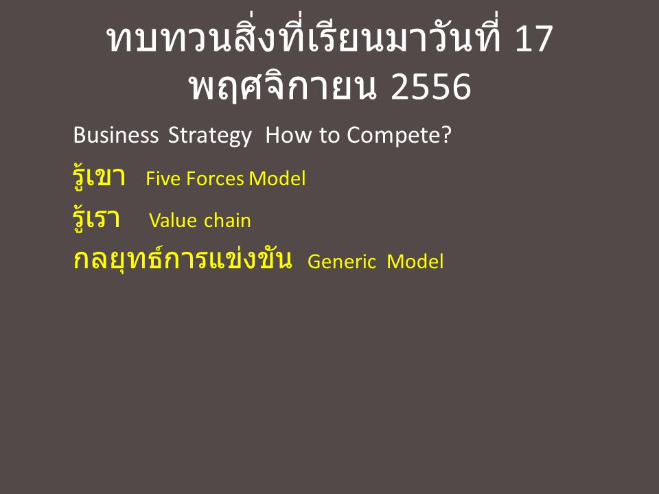 Forces Driving Industry Competition 3.6Forces Driving Industry Competition (Fig.