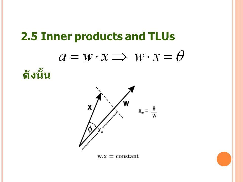 23 2.5 Inner products and TLUs ดังนั้น