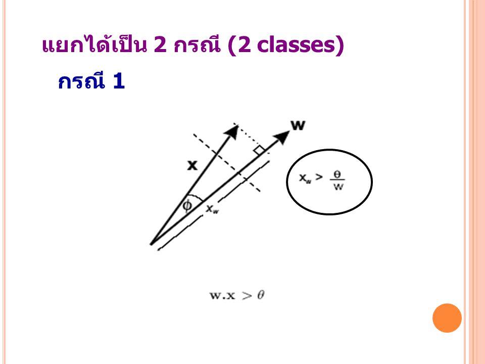 24 แยกได้เป็น 2 กรณี (2 classes) กรณี 1