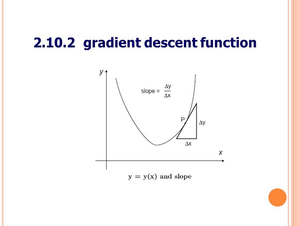 48 2.10.2 gradient descent function