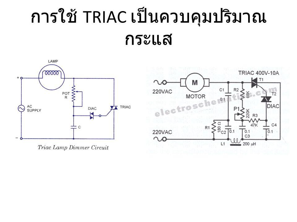 การใช้ TRIAC เป็นควบคุมปริมาณ กระแส