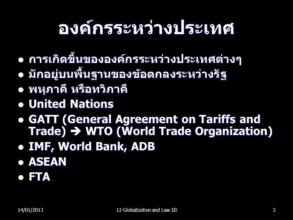 องค์กรระหว่างประเทศ การเกิดขึ้นขององค์กรระหว่างประเทศต่างๆ การเกิดขึ้นขององค์กรระหว่างประเทศต่างๆ มักอยู่บนพื้นฐานของข้อตกลงระหว่างรัฐ มักอยู่บนพื้นฐา