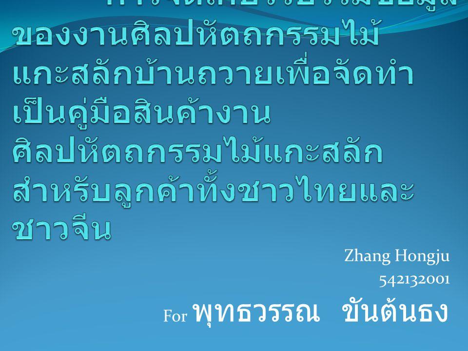 Zhang Hongju 542132001 For พุทธวรรณ ขันต้นธง
