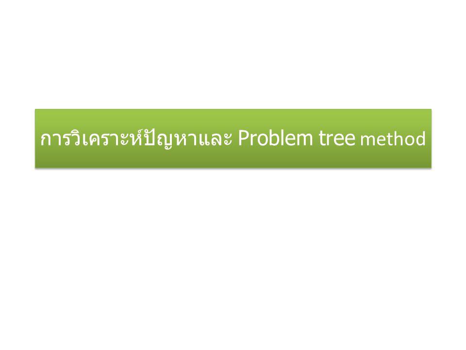 การวิเคราะห์ปัญหาและ Problem tree method