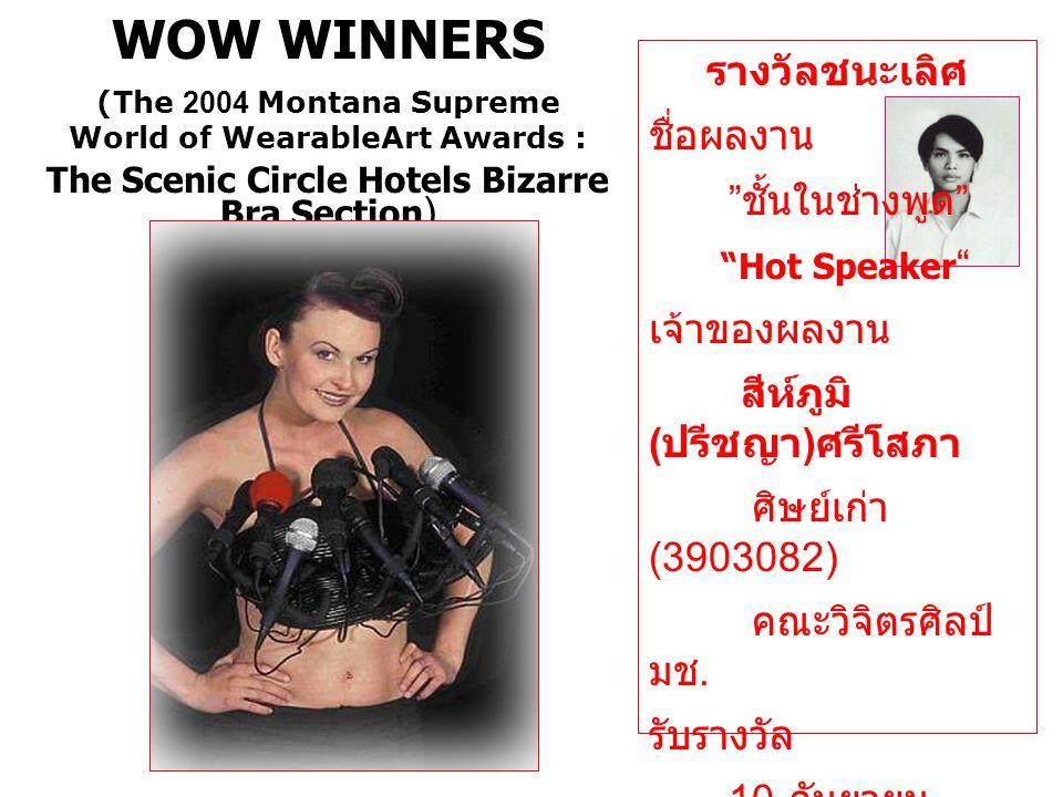 รางวัลชนะเลิศ ชื่อผลงาน ชั้นในช่างพูด Hot Speaker เจ้าของผลงาน สีห์ภูมิ ( ปรีชญา ) ศรีโสภา ศิษย์เก่า (3903082) คณะวิจิตรศิลป์ มช.