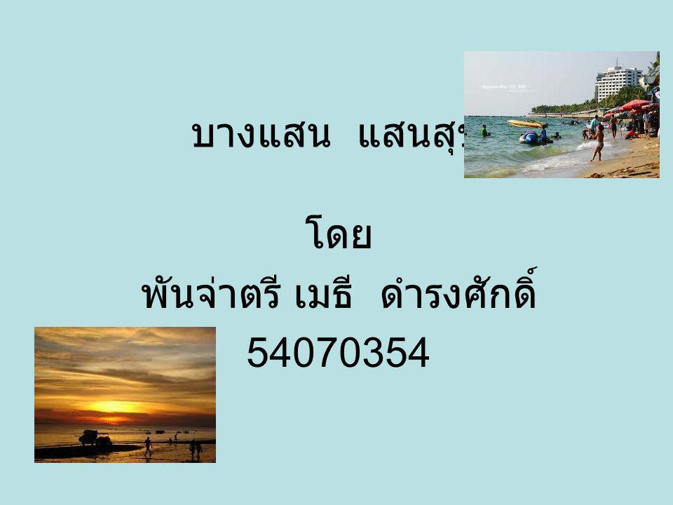 บางแสน แสนสุข โดย พันจ่าตรี เมธี ดำรงศักดิ์ 54070354