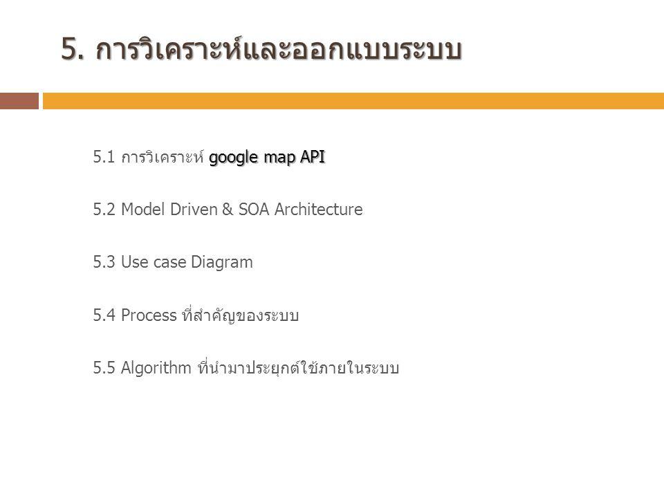 5.การวิเคราะห์และออกแบบระบบ 5.