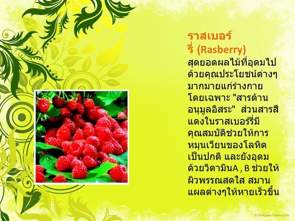 ราสเบอร์ รี่ (Rasberry) สุดยอดผลไม้ที่อุดมไป ด้วยคุณประโยชน์ต่างๆ มากมายแก่ร่างกาย โดยเฉพาะ